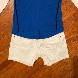 """White Denim Shorts 3"""" Inseam"""